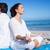 mutlu · çift · yoga · meditasyon · açık · havada · uygunluk - stok fotoğraf © wavebreak_media