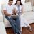 пару · используя · ноутбук · счастливым · диван · женщину - Сток-фото © wavebreak_media