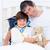 внимательный · отец · больным · сын · играет · стетоскоп - Сток-фото © wavebreak_media