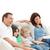 família · feliz · assistindo · filme · juntos · casa · família - foto stock © wavebreak_media