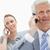 grijs · haar · zakenman · praten · telefoon · glimlachende · vrouw - stockfoto © wavebreak_media