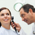 Doctor using an otoscope to look at the ear of his patient in an examination room stock photo © wavebreak_media