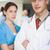 komoly · orvos · nővér · keresztbe · tett · kar · kórház · orvosi - stock fotó © wavebreak_media