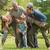 grootouders · spelen · kind · boom · park · gelukkig - stockfoto © wavebreak_media