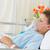 paciente · máscara · de · oxigeno · relajante · cama · hospital · nino - foto stock © wavebreak_media