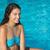 portret · mooie · jonge · vrouw · vergadering · ligstoel · buitenshuis - stockfoto © wavebreak_media