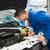 mecánico · examinar · coche · reparación · del · coche · garaje · escrito - foto stock © wavebreak_media