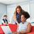 jonge · creatieve · team · werken · bank · kantoor - stockfoto © wavebreak_media