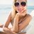gyönyörű · szőke · nő · napos · idő · tengerpart · nő · boldog - stock fotó © wavebreak_media