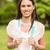 retrato · sonriendo · estudiante · hombro · bolsa · parque - foto stock © wavebreak_media