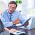 geconcentreerde · business · met · behulp · van · laptop · witte · laptop - stockfoto © wavebreak_media