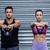 a muscular couple lifting kettlebells stock photo © wavebreak_media