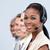 donna · d'affari · telefono · bluetooth · auricolare · sorridere · adulto - foto d'archivio © wavebreak_media