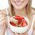 женщину · еды · клубника · фото · красивая · женщина - Сток-фото © wavebreak_media