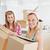 brilhante · feminino · amigos · caixas · em · movimento - foto stock © wavebreak_media