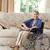 aposentados · mulher · cadeira · de · rodas · casa · médico · saúde - foto stock © wavebreak_media