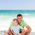 atento · hijo · de · padre · playa · agua · cara · feliz - foto stock © wavebreak_media