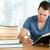 mannelijke · student · gericht · huiswerk · papier · school - stockfoto © wavebreak_media
