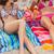 mulheres · jovens · praia · cocktails · risonho · juntos · sol - foto stock © wavebreak_media