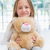 happy little girl holding her teddy stock photo © wavebreak_media