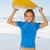 mutlu · sörfçü · tahta · plaj - stok fotoğraf © wavebreak_media