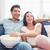 miłości · para · oglądanie · telewizji · salon · szczęśliwy · domu - zdjęcia stock © wavebreak_media