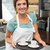 Servicio · propietario · sonriendo · cámara · negocios · signo - foto stock © wavebreak_media