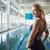 portre · mutlu · kadın · atlet · ayakta · eller - stok fotoğraf © wavebreak_media