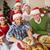 baba · şapka · tavuk · Noel · akşam · yemeği - stok fotoğraf © wavebreak_media