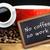 afbeelding · witte · beker · koffie · schoolbord - stockfoto © wavebreak_media