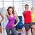 people gesturing thumbs up in fitness class stock photo © wavebreak_media