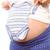 terhes · nő · tart · baba · ruházat · fehér · egészség - stock fotó © wavebreak_media