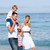lively family walking on the sand stock photo © wavebreak_media