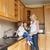 keuken · kinderen · drinken · familie · meisje · gelukkig - stockfoto © wavebreak_media