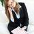 элегантный · деловая · женщина · газета · сидят · диван - Сток-фото © wavebreak_media