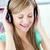 kafkas · kadın · dinlemek · kulaklık · mutfak · kulaklık - stok fotoğraf © wavebreak_media