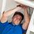 carismático · homem · afundar · cozinha · casa - foto stock © wavebreak_media