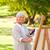 schilderij · buitenshuis · huis · werk · home · venster - stockfoto © wavebreak_media
