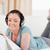 женщину · диван · чтение · журнала · гостиной · окна - Сток-фото © wavebreak_media