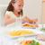 kız · yeme · yemek · masası · salata · gülen · mutluluk - stok fotoğraf © wavebreak_media