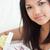 女性 · ギフトボックス · 花 · 髪 · 皮膚 · 化粧 - ストックフォト © wavebreak_media