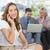 деловая · женщина · вызова · коллеги · используя · ноутбук · домой · компьютер - Сток-фото © wavebreak_media