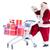 mikulás · ajándékok · bevásárlókocsi · boldog · fut · bevásárlókocsi - stock fotó © wavebreak_media
