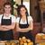 retrato · camarero · camarera · sonriendo · restaurante · mujer - foto stock © wavebreak_media