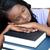 fáradt · diák · ír · notebook · kép · nő - stock fotó © wavebreak_media