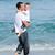 かわいい · 少年 · 父 · 徒歩 · 砂 - ストックフォト © wavebreak_media