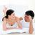 heureux · affectueux · couple · lit · femme · lumière - photo stock © wavebreak_media