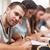 studentów · egzamin · amfiteatr · szczęśliwy · edukacji - zdjęcia stock © wavebreak_media