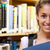 boldog · női · diák · tart · könyv · könyvtár - stock fotó © wavebreak_media