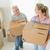boldog · pár · karton · költözködő · dobozok · új · otthon · nő - stock fotó © wavebreak_media